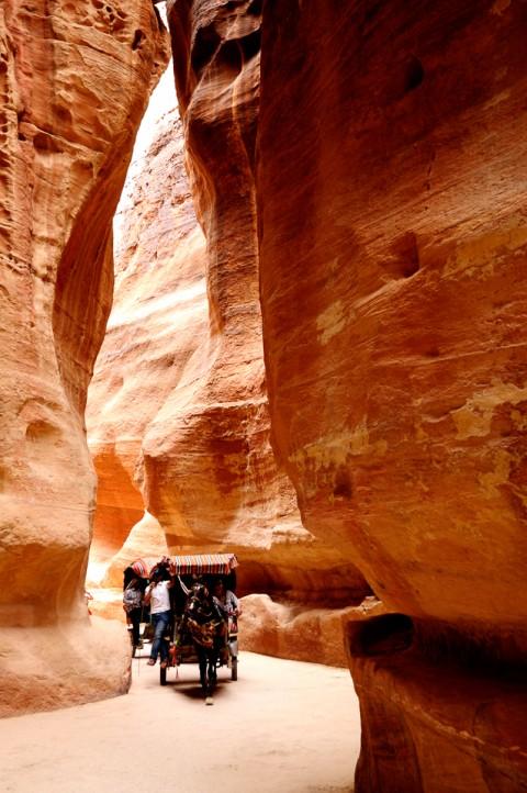 Carro de caballos, Siq, Petra, Etiopía