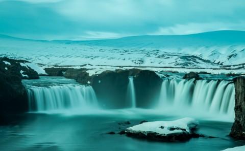 Cascada Godafoss en Islandia
