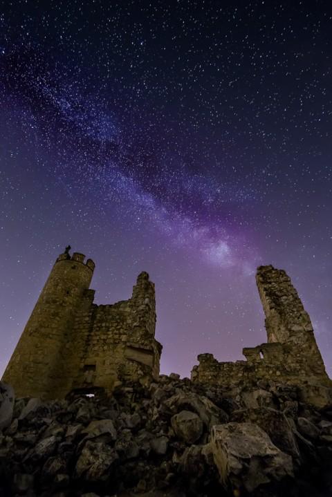 Via Lactea en el castillo de caudilla, Toledo
