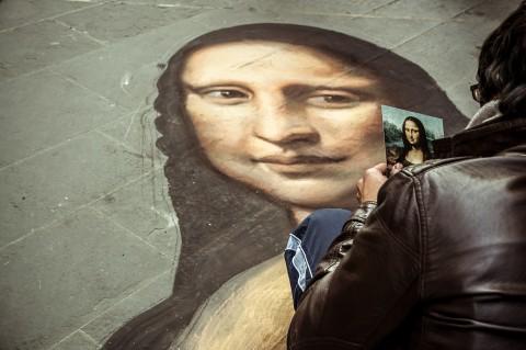 Paseando por Florencia, Mona Lisa pintada