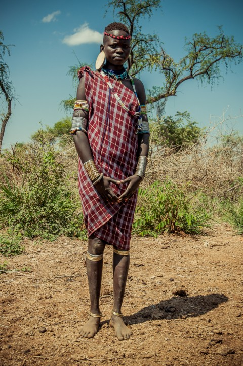 Joven de Tribu Mursi, Etiopía