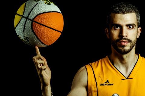 Sesión de estudio, jugador de baloncesto