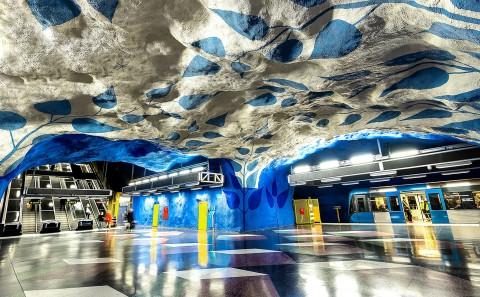 estación de metro t_centralen, estocolmo, suecia