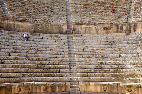 Teatro Romano en Jerash, Jordanía