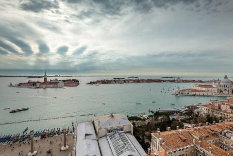 Vistas desde el Campanille de la Plaza de san Marcos, Venecia , Italia